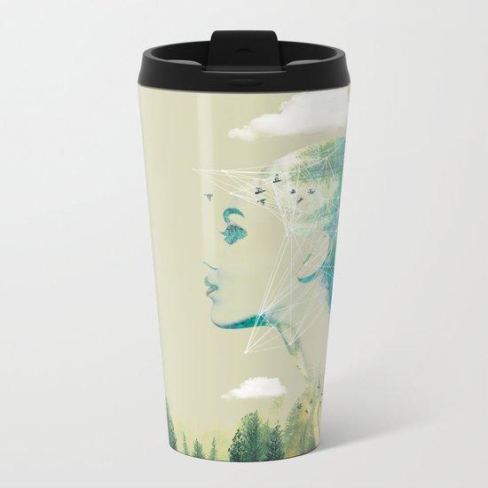 Geo Forest Metal Travel Mug