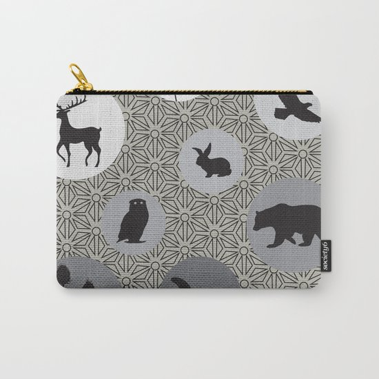 Animals Of The Woods Carry-All Pouch