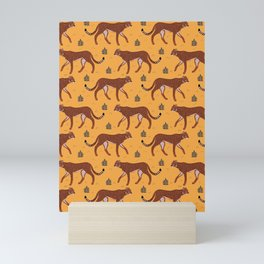 Summer Cheetah Pattern IV - Honey Yellow Mini Art Print