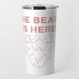 The Beard Is Here! (Red) Travel Mug