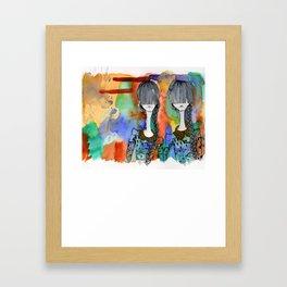 Twins. Framed Art Print