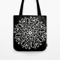 Leaves B&W Tote Bag