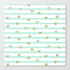 Line Heart Canvas Print