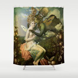 """""""The body, the soul and the garden of love"""" Shower Curtain"""
