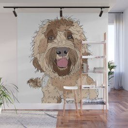 Goldendoodle Love Wall Mural