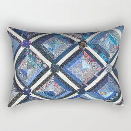 Lattice work quilt Rectangular Pillow