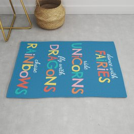 Fairies, Unicorns, Dragons & Rainbows Rug