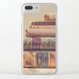 Vintage Books Clear iPhone Case
