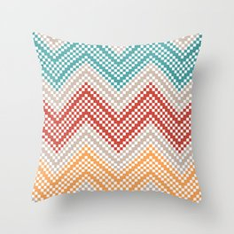 C13 pattern series - pixel chevron Throw Pillow