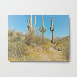 Saguaro Superbloom Metal Print