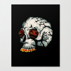 Halloween Skull Canvas Print