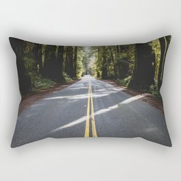 Redwoods Road Trip - Nature Photography Rectangular Pillow