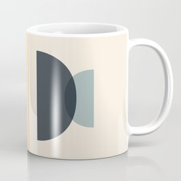 Sapphire Abstract Half Moon 2 Coffee Mug