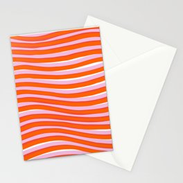 electric zebra stripes Stationery Cards