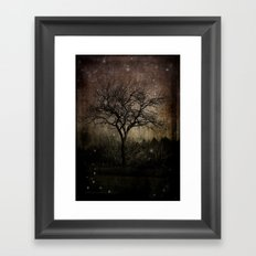 Lights in the Dark Framed Art Print