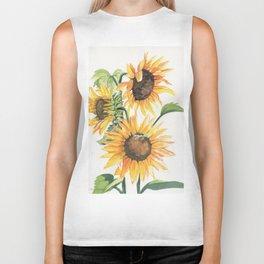 Sunny Sunflowers Biker Tank