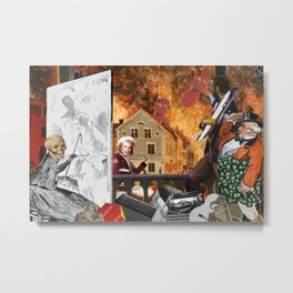 History (As the Company Endorsed History Book Tells Me) Metal Print