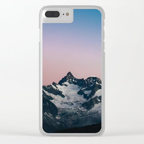 Hiking up mountains Clear iPhone Case
