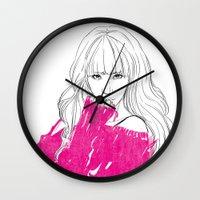 tiffany Wall Clocks featuring Tiffany Hwang by Noir0083