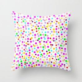Colorful Rain 15 Throw Pillow