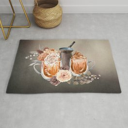 Make Mine a Latte With Flowers Rug