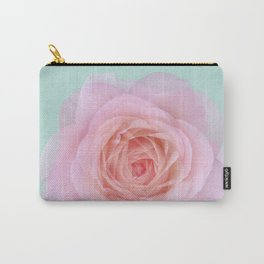 rose by another name: pink ghost on eau de nil Carry-All Pouch