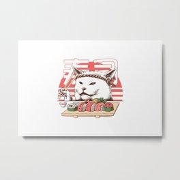 Master Chef Sushi Metal Print