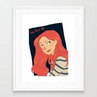 amy pond Framed Art Prints featuring Amy Pond by Lara Pickle