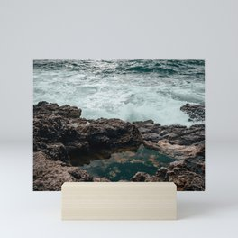The sea at Boca do Inferno   Cascais Portugal Mini Art Print