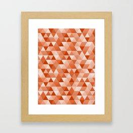 Geometric in Vermillion Framed Art Print