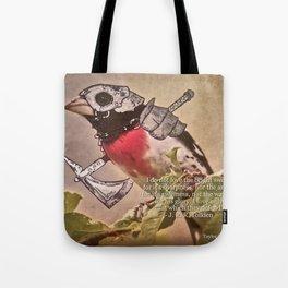 Birds In Armor 7 Tote Bag