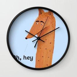 Mr Fox Wall Clock