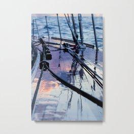 Rain on deck -Sailing photography- nautical photography Metal Print