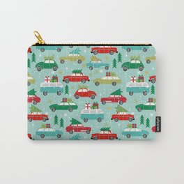 Christmas car tradition christmas trees holiday pattern winter festive Carry-All Pouch