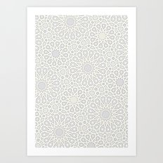 Moroccan tiles Art Print