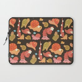 Snail and small flowers Laptop Sleeve