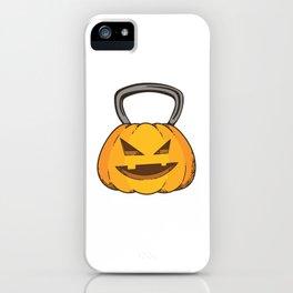 Jack O Kettlebell Halloween Pumpkin iPhone Case