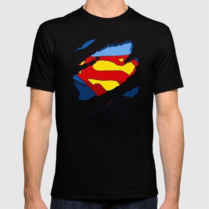 a3d2ae382a1 superhero torn - SuperMan T-shirt by undert4ker