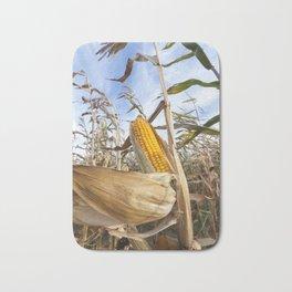 yellowed ripe corn Bath Mat