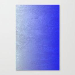 Blue Ice Glow Canvas Print