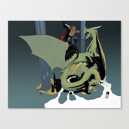 At the Dragon's Lair Canvas Print