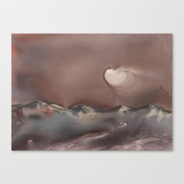 Moon Glow over Mountains Canvas Print