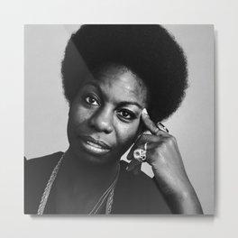 Nina Simone Art Print - Black Culture - Black History Metal Print