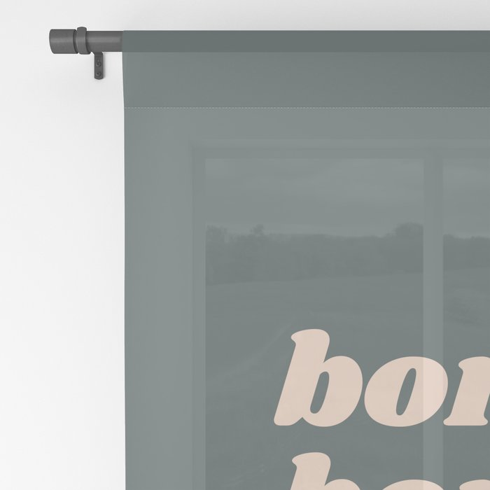 Bonjour in Pretty Pastels Sheer Curtain