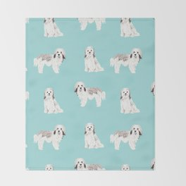 Havanese dog breed gifts for dog lover pure breed must haves Throw Blanket