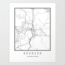 Branson Missouri Street Map Art Print