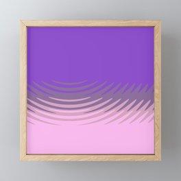Manan pink purple Framed Mini Art Print