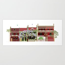 Sydney Terrace Houses Art Print
