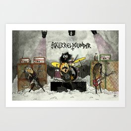 Squirrelpounder Art Print