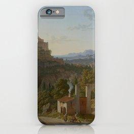 Leo von Klenze - Landscape with the Castle of Massa di Carrara iPhone Case